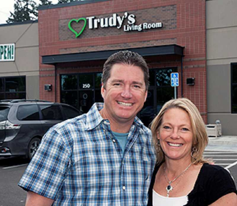 by: WILSONVILLE AREA CHAMBER OF COMMERCE - Rick and Trudy Palo recently opened Trudy's Living Room in Wilsonville.