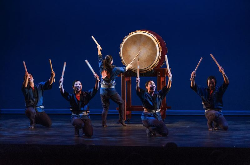 by: CONTRIBUTED PHOTO - The Portland Taiko Ensemble will bring its signature rhythmic beat to the Dale Nicholls Main Stage next Wednesday, Aug. 21. Avoid regrets; dont miss this powerful performance.