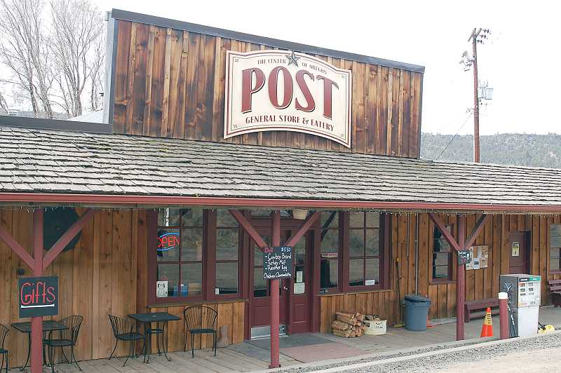 by: PHOTO BY SCOTT STAATS - The Post General Store and Eatery, an all-purpose spot in the town (with a population of one) that claims to be in the exact center of Oregon.