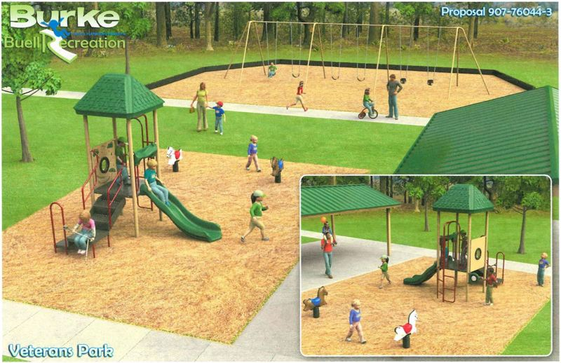 by: SUBMITTED IMAGE - City Staff chose a play structure form Budget Extension Playground Grants in order to save money on the project.