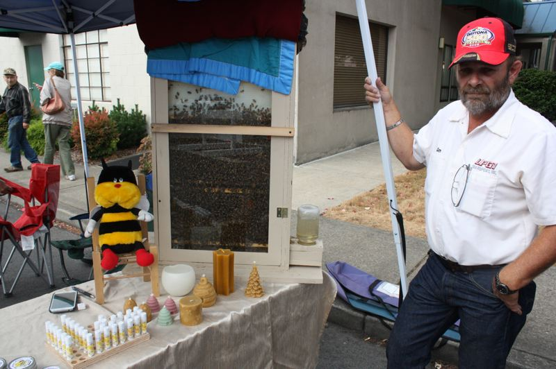 by: SPOTLIGHT PHOTO: ROBIN JOHNSON - Glen Heifort, owner of Bee Sweet Honeys, said he currently has 15 hives in operation, but plans to gradually expand his business and fill all 60 of his hives.