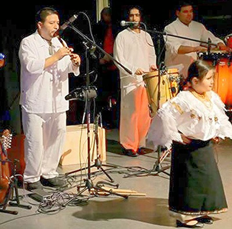 by: CONTRIBUTED PHOTO: ELIZABETH ANDERSON - Raices, folklore musicians, will perform at the Ecuadorean Independence Festival. Nelson, left, and his daughter Cece Salazar, right, are part of the group.