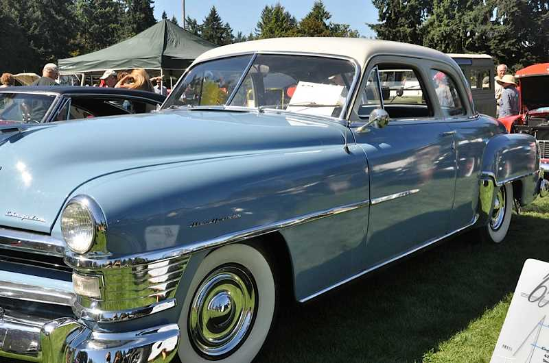 by: SUBMITTED - This 1951 Chrysler New Yorker looked beautiful in the afternoon sun at the Oswego Heritage Council's car show on Sunday.
