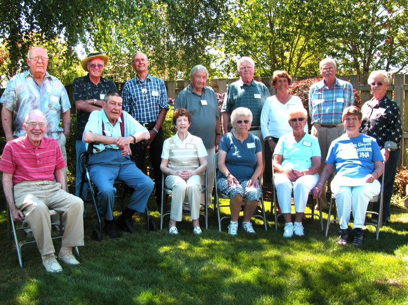 by: PHOTO: LISA K. ANDERSON - Sunday afternoon, class of 1948 classmates gathered with their spouses and classmates from other classes for a 65th reunion.