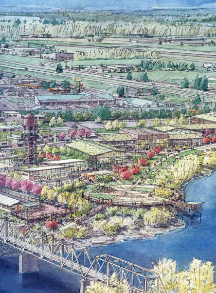 by: CONTRIBUTED PHOTO - Eastwinds Development, owned by the Yoshida Group, has big plans for the former industrial site in Troutdale.