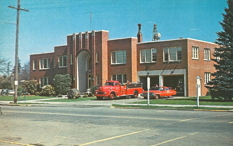 by: PHOTO COURTESY: CITY OF MILWAUKIE - Milwaukie City Hall is seen in the 1950s when it still housed a fire department.