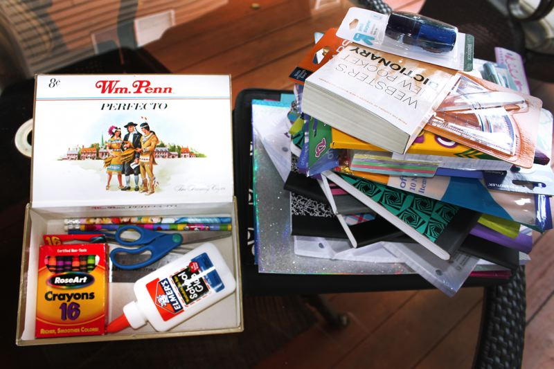 by: OUTLOOK PHOTO: ANNE ENDICOTT - Back in the day, school supplies fit into a container the size of a cigar box. Today, its a hefty tower of multiple packages of paper, pencils and pocket-sized books.