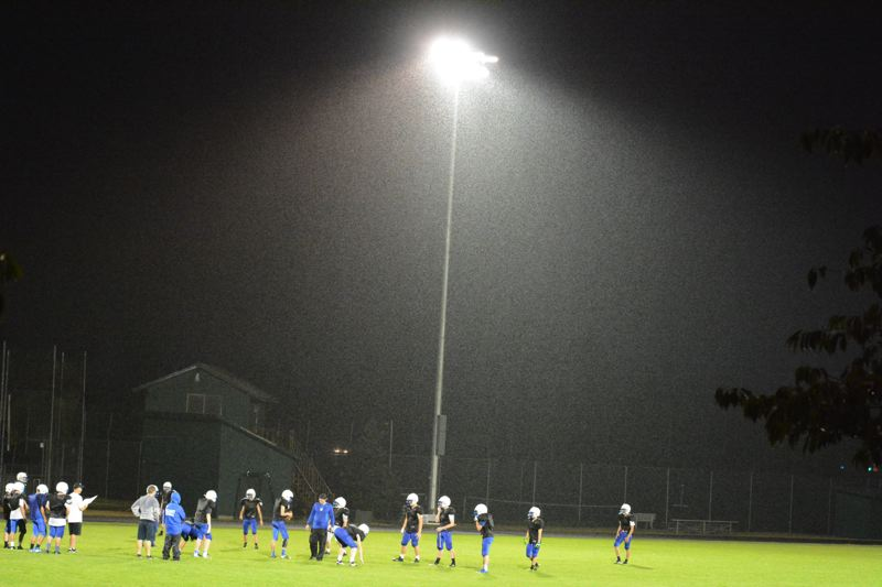 by: TIMES PHOTO: MATT SINGLEDECKER - For the first time in the programs history, Valley Catholic will have lights on its football field.