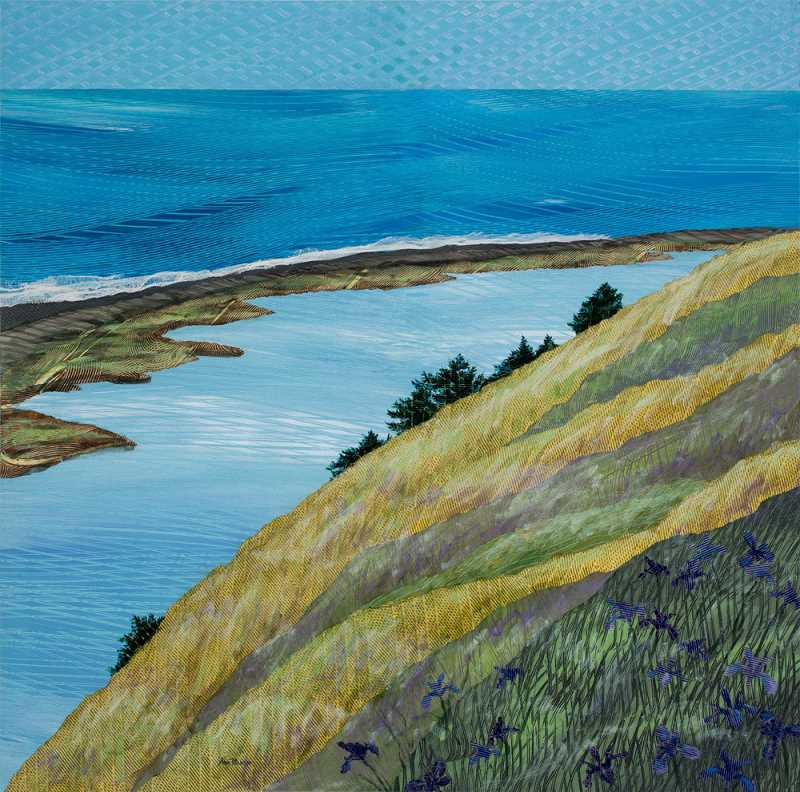 by: SUBMITTED PHOTO - Ann Munson of West Linn will be one of the 130 artists exhibiting her art at Art in the Pearl over Labor Day weekend. This piece is titled The Spit, Ebeys Landing.