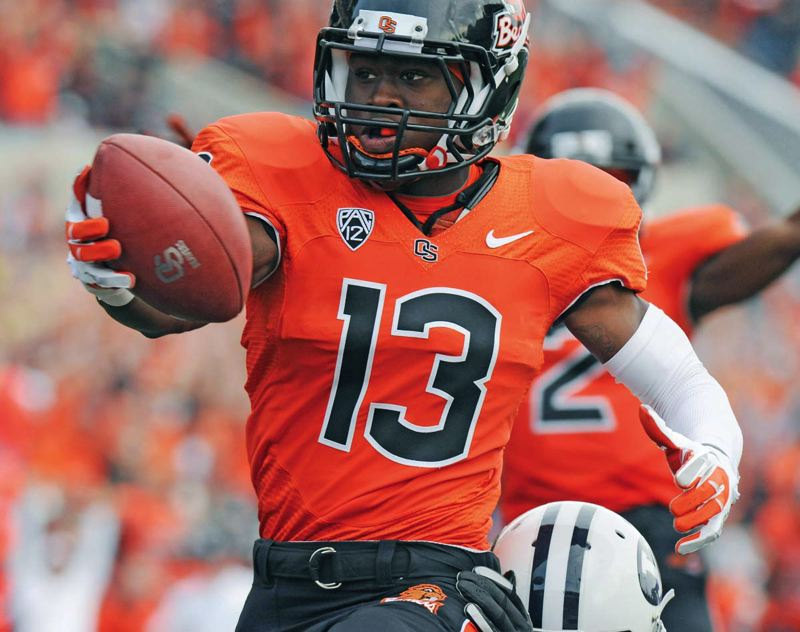 by: COURTESY OF DENNIS WOLVERTON - Brandin Cooks heads a strong corps of receivers for Oregon State.