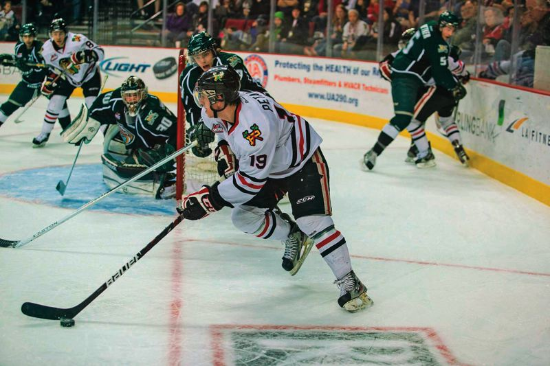 by: TRIBUNE FILE PHOTO: CHRISTOPHER ONSTOTT - Nic Petan is one of several returning forwards who will give the Portland Winterhawks firepower in their bid to repeat as Western Hockey League champions.