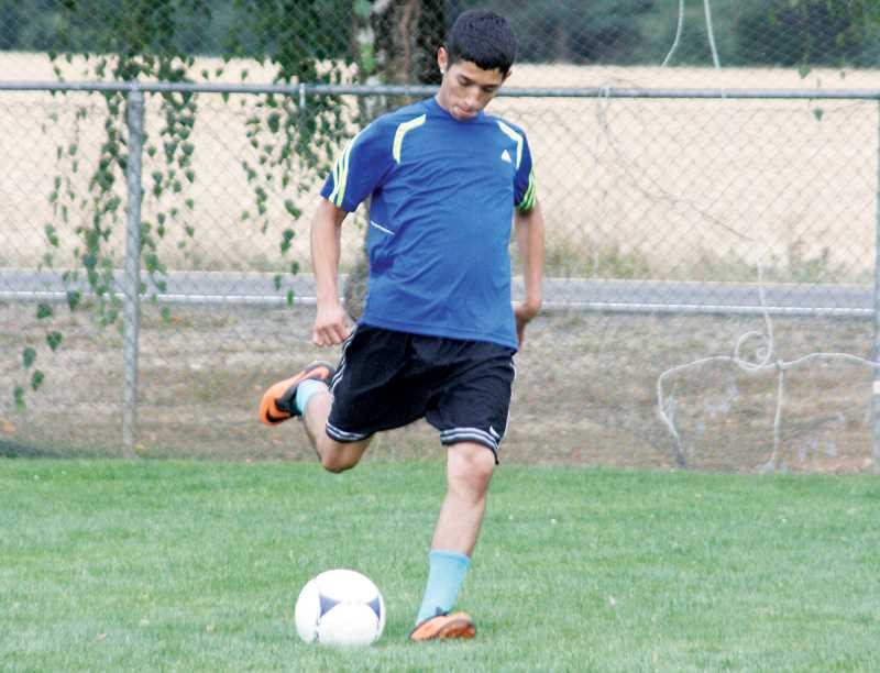 by: PHIL HAWKINS - Abner Carrillo should give the North Marion boys soccer team a sure-footed scoring option at forward this fall.