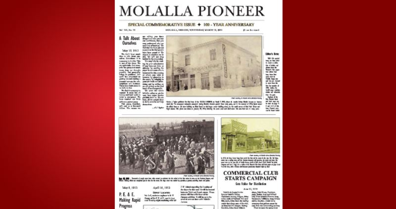 (Image is Clickable Link) by: PAMPLIN MEDIA GROUP - Molalla Pioneer Centennial