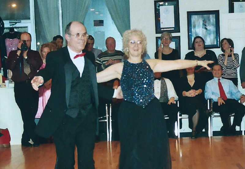 by: COURTESY OF MARSHALL AND PAULA HENRY - KNOW THEIR WAY AROUND A DANCE FLOOR - Marshall and Paula Henry, who took lessons at Arthur Murray for 2 /2 years, perform in a waltz exhibition in 2004; in 2011, they started organizing Summerfield Dance Club dances.