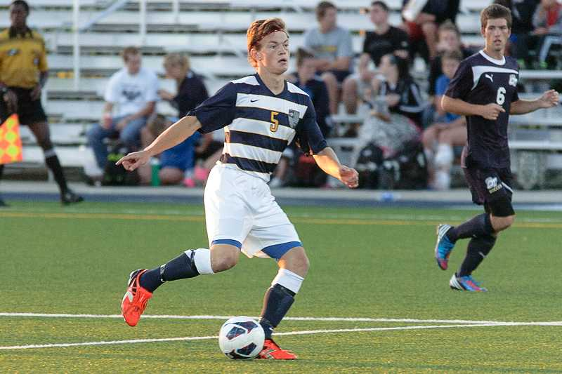 by: GEORGE FOX ATHLETICS - Myles Sorokovsky, a Wilsonville High School alumnus who is currently on the men's soccer team at George Fox University in Newberg, figures to be a key contributor this season as a center midfielder. Sorokovsky was second on the team in scoring last year, logging three goals as a sophomore with the Bruins.