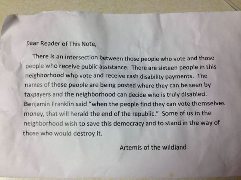 by: SUBMITTED PHOTO - Versions of this flier have been sighted throughout Portland, to the consternation of citizens and city officials alike.