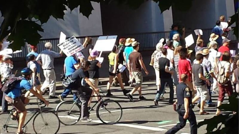 by: KOIN 6 NEWS - Portlanders demonstrated against a possible U.S. strike against Syria on Saturday.