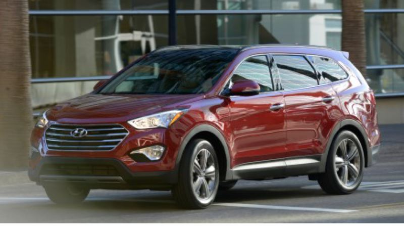 by: HYUNDAI MOTOR AMERICAN - The redesigned 2013 Hyundai Santa Fe now includes a third row of seats.