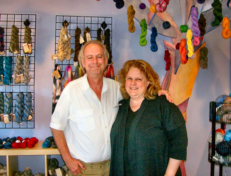 by: RITA A. LEONARD - Lesley and David Bracken have opened Yarntastic! Fiber Arts at 6802 S.E. Milwaukie Avenue, just north of the Bybee Boulevard intersection.