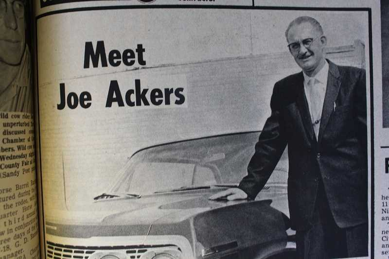 While this 1963 Post ad invites readers to Meet Joe Ackers, our crack reseach team was not convinced of the mans identity. What we believe is that Vice President Lyndon Johnson (Left) was in fact laying low in Sandy, mere months before Presdient Kennedy was assassinated in Dallas.