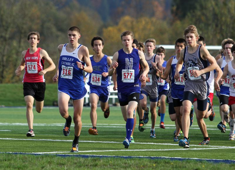 by: TIMES FILE PHOTO - Cooper Roach and the Valley Catholic boys cross country team has their sights set on a high place at the 3A State Championships this season.