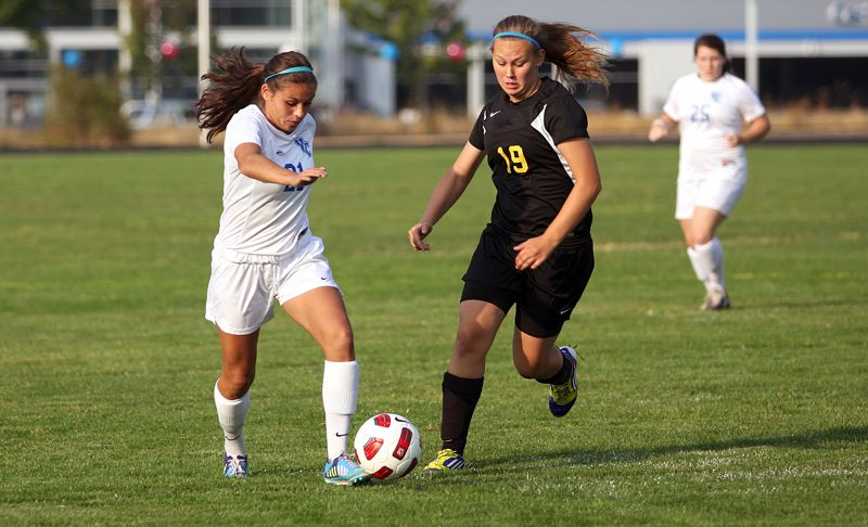 by: TIMES FILE PHOTO - Valley Catholic captain Makenzee Cleveland is one of the fastest players on the Valiants and one of the teams leaders on the pitch.