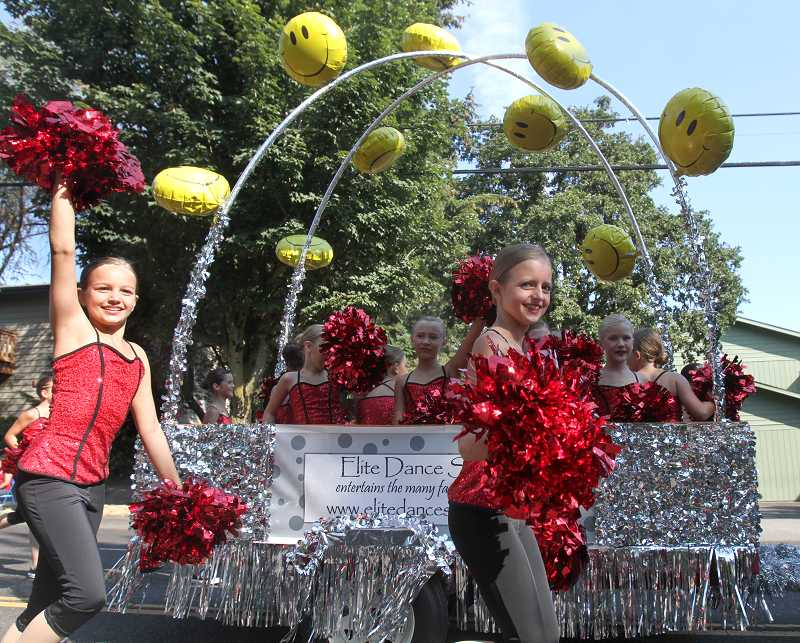 by: TIMES FILE PHOTO: JONATHAN HOUSE - Elite Dance Studio dancers brought energy to the Beaverton Celebration Parade in 2012.The 56th annual parade will wind through downtown on Saturday.
