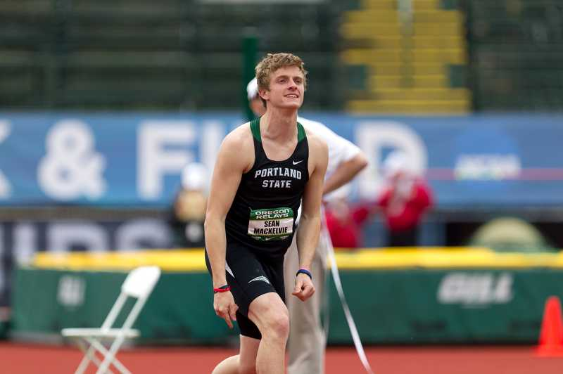 by: LARRY LAWSON / PORTLAND STATE - Wilsonville alumnus Sean MacKelvie won Big Sky Conference gold in the triple jump this past season as a member of the Portland State track and field team. He won a league title in the javelin a year earlier.
