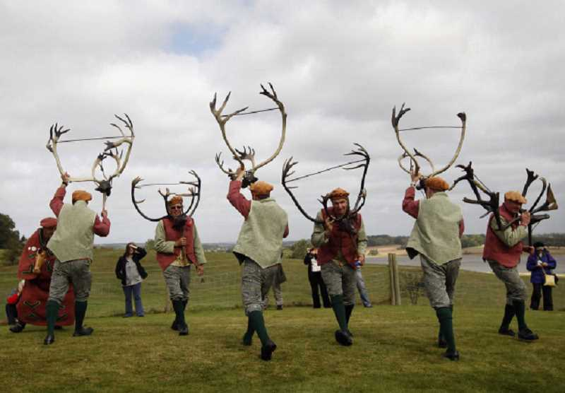 by: SUBMITTED PHOTO  - Join the Portland Revelers on Sunday as the group recreates the Abbots Bromley horn dance.