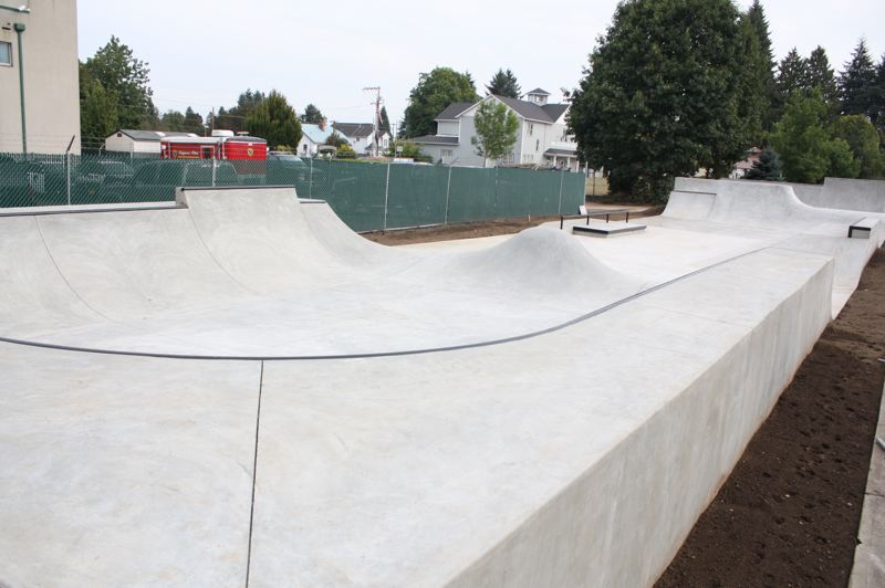 by: SPOTLIGHT PHOTO: ROBIN JOHNSON - The new park opens today. A grand opening for the skatepark will likely be held before the Sauerkraut Festival, city officials say.