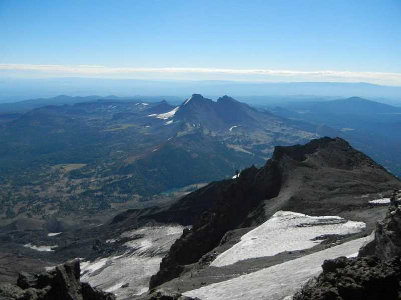 by: JEFF MCDONALD  - Views from the summit of South Sister in Central Oregon.