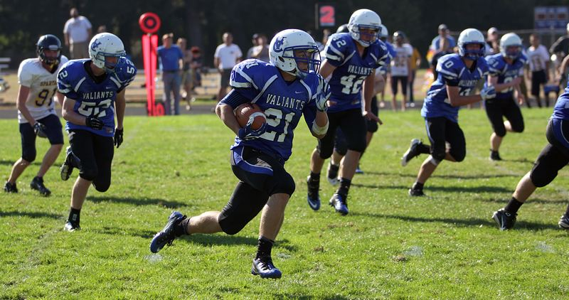 by: TIMES FILE PHOTO - Valley Catholic running back Clay Kemper is part of a loaded Valiant offense itching to put up points this season.