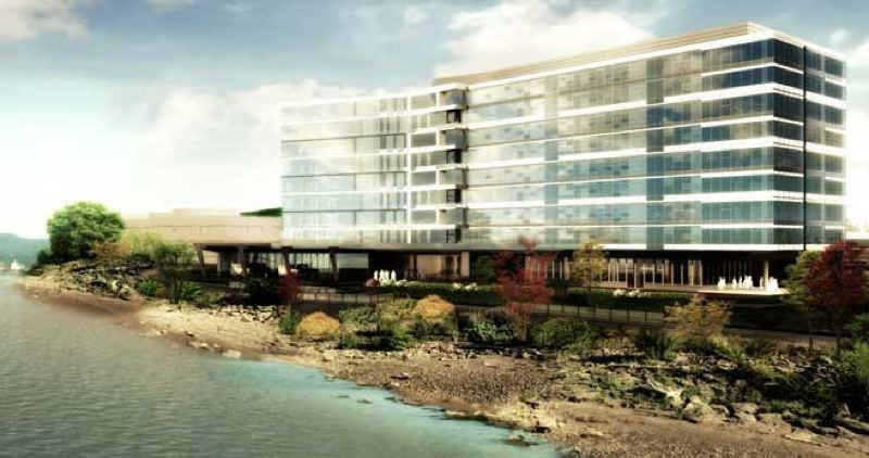 (Image is Clickable Link) by: COURTESY OF KOIN LOCAL 6 - A proposed new $150 million Daimler Trucks North America headquarters building would be constructed on Swan Island to LEED Platinum certification. The project announced Friday, Sept. 13, is expected to be done in 2016 and accommodate at least 400 new jobs.