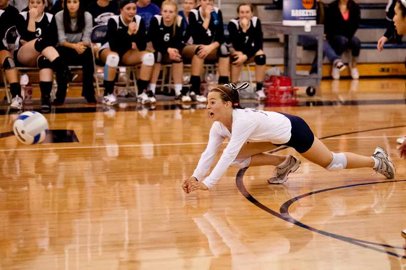 by: GREG ARTMAN / FILE - Sophomore libero Skyler Matthews is one of eight players on the Wilsonville volleyball team this year.