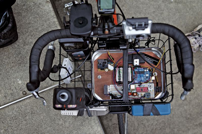 by: PAMPLIN MEDIA GROUP: JAIME VALDEZ - detail of bike lab