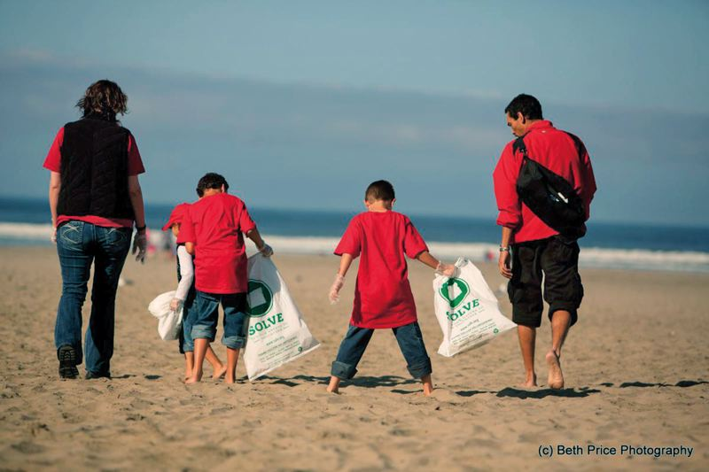 by: PHOTO COURTESY OF GARY LOVELESS - The SOLVE beach cleanup was a family affair for this foursome at Seaside Beach.