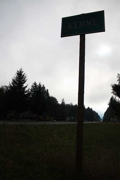 by: POST PHOTO: NEIL ZAWICKI - A lone sign along Highway 26 keeps alive the memory of Henry Wemme.