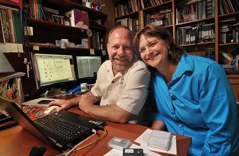Jeff and Theresa Gustin of Lake Oswego combine their talents in their business, Gustin Creative Group.