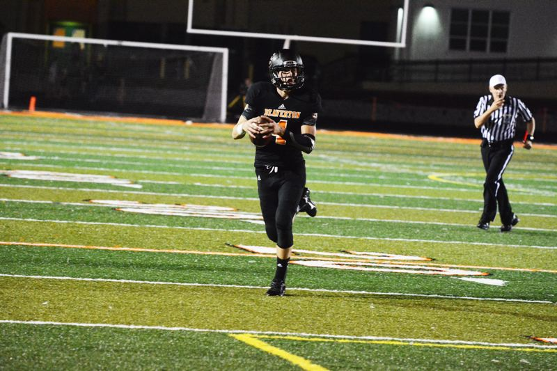 by: TIMES PHOTO: MATT SINGLEDECKER - Beaverton quarterback Sam Noyer ran for a score against South Salem and threw for 123 yards.