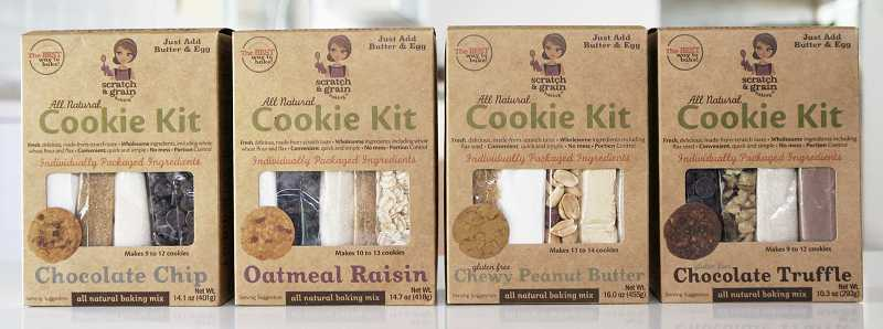 The cookie kits come in a variety of flavors. Geiger says the company will soon expand to brownies, scones and possibly even dog biscuits.