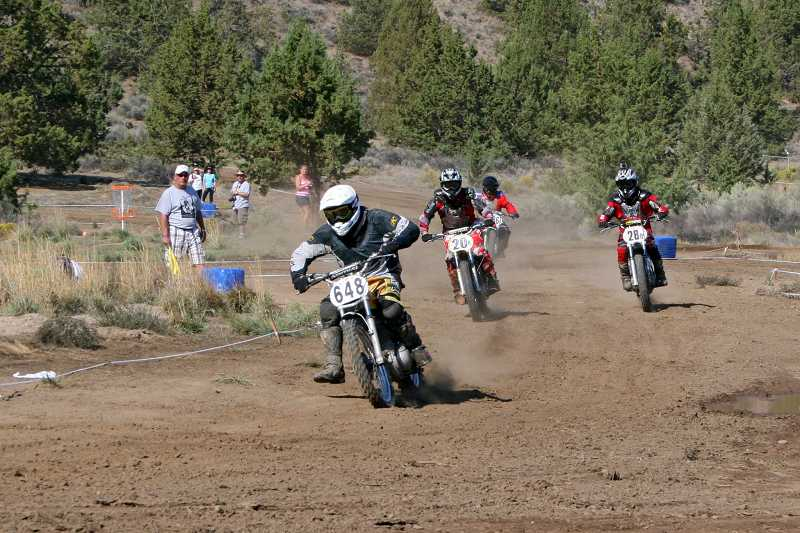 by: PHOTO BY RAGINA ANDERSON - The 'Premier and Classic' motorcycle event, formerly held in Chehalis, Wash., has moved to Crooked River Ranch. The event involves newer, larger and heavier motorcycles, with better equipment, than the motorcycles used in the Ranch's Steel Stampede.