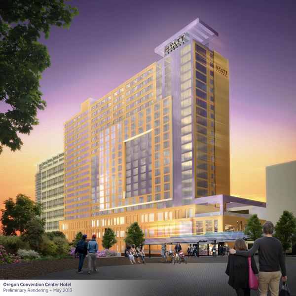 (Image is Clickable Link) by: COURTESY OF METRO - A proposed 600-room, $198 million Hyatt hotel could be constructed just north of the Oregon Convention Center if Portland's City Council and Multnomah County officials sign off on the agreement in the next week.