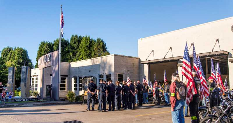 by: RAY HUGHEY - The Canby Fire District 62 and the Canby Police Department hold a joint memorial program to commemorate those who lost their lives in the Sept. 11, 2001, terrorist attacks.