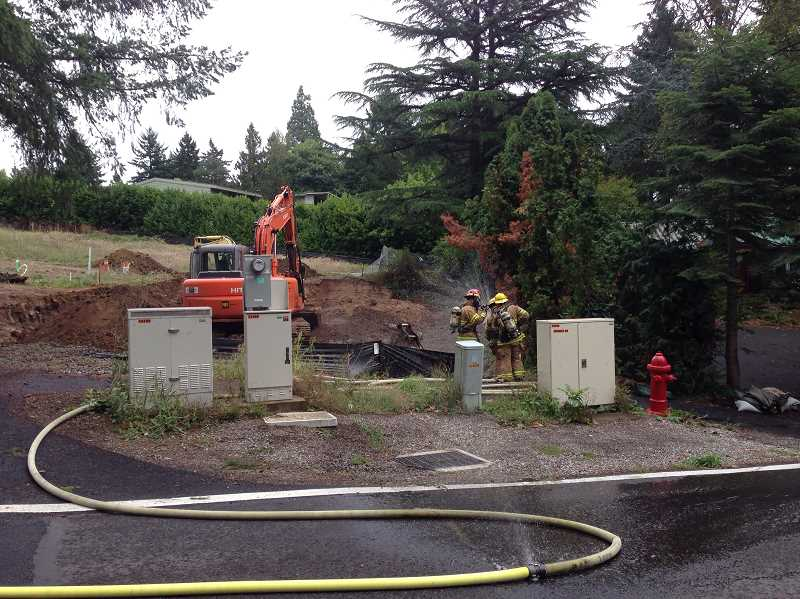 by: SUBMITTED - Lake Oswego firefighters responded to a gas leak at Goodall and Country Club roads today.