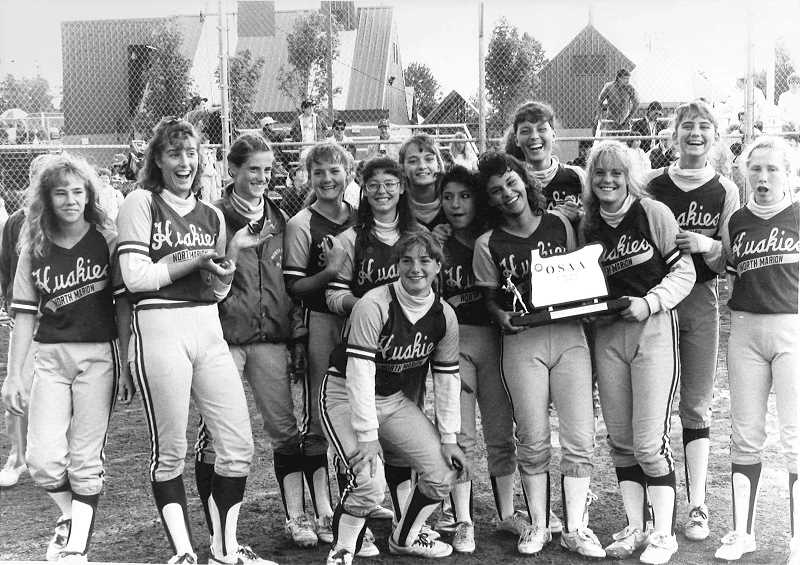 by: COURTESY OF RAY LAMBERT - North Marions 1990 state runner up softball team