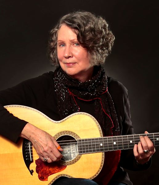 by: POST PHOTO: JIM HART - World-class guitarist Mary Flower will appear at the European coffee house inside the Sandy Public Library during First Friday from 6-8 p.m. Friday, Oct. 4.