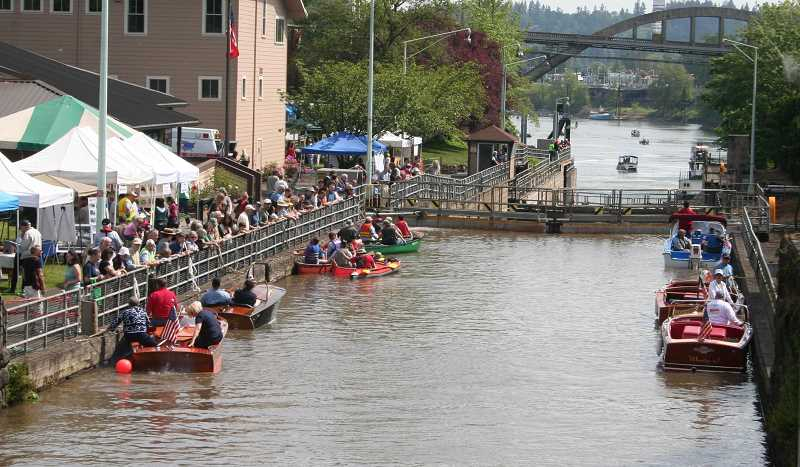by: WILLAMETTE FALLS HERITAGE FOUNDATION - In previous years, the locks on the Willamette River were open to Lock Fest participants.