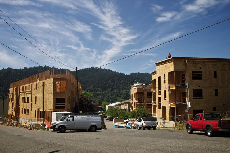 by: PHOTO BY JAIME VALDEZ - Metro is working on a survey to determine where people want to live in the region, including apartments like these being built in St. Johns.