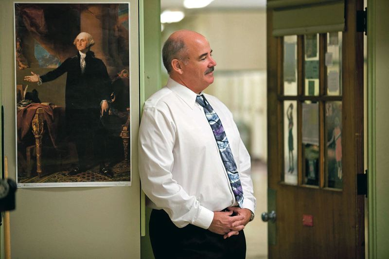 by: TRIBUNE FILE PHOTO: CHRISTOPHER ONSTOTT - Cleveland Principal Paul Cook has led his school for 12 years, one of the longest-serving principals in PPS. He credits his supportive community of parents, the alumni association and business partners.
