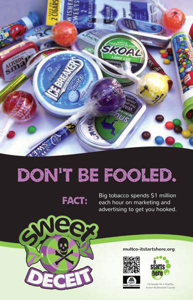 (Image is Clickable Link) Multnomah County Health 'Sweet Deceit' Posters